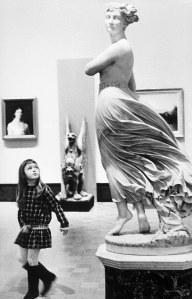a museum statue, a girl and Bhagavad-gita's wisdom
