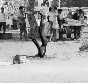 head-buried headstand, Bombay 1971